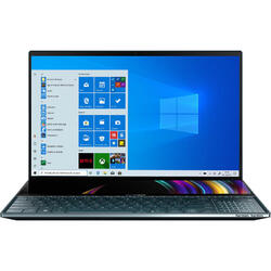 ZenBook Pro Duo UX581GV, 15.6'' UHD Touch, Intel Core i7-9750H, 32GB DDR4, 1TB SSD, GeForce RTX 2060 6GB, Win 10 Pro, Celestial Blue