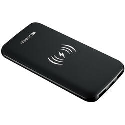 CNS-TPBW8B, 8000 mAh, 2x USB, 1x USB-C, 2A, Wireless Charging, Black