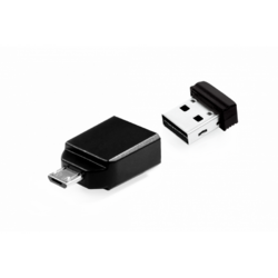 Nano + OTG Adapter, 64GB, USB 2.0, Black