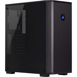 Carbide Series 175R RGB, MiddleTower, Tempered glass, Fara sursa, Negru