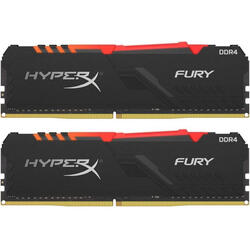 HyperX Fury RGB 16GB DDR4 2666MHz CL16 Dual Channel Kit