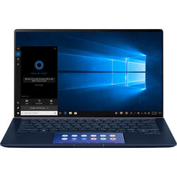 ZenBook 14 UX434FLC, 14'' FHD Touch, Intel Core i7-10510U, 16GB, 1TB SSD, GeForce MX250 2GB, Win 10 Pro, Royal Blue