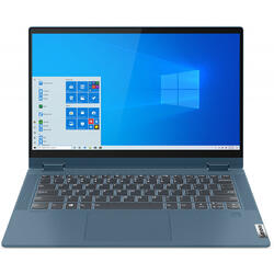 IdeaPad Flex 5 14IIL05, 14 inch FHD Touch, Intel Core i5-1035G1, 16GB DDR4, 1TB SSD, Intel UHD, Windows 10 Home, Light Teal