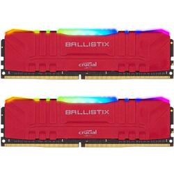 Ballistix RGB DDR4 32GB 3600MHz CL16 Kit Dual Channel Red