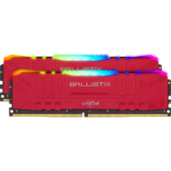 Ballistix RGB DDR4 16GB 3200MHz CL16 Kit Dual Channel Red