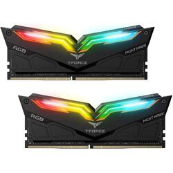 T-Force Night Hawk RGB DDR4 16GB 3200 MHz CL16, Kit Dual Channel